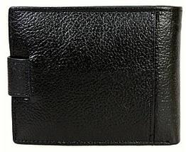 Мужской кошелек из натуральной кожи черный BR-S 1013609239, фото 3