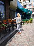 Жакет жіночій  на блискавці  з бавовни ,женский жакет на молнии из жатого хлопка большого размера, фото 4