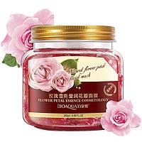 Несмываемая ночная маска BIOAQUA Natural Flower Petal Facial Mask с экстрактом лепестков махровой розы (280г)