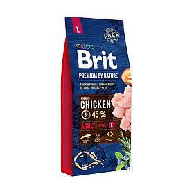 Сухий корм для дорослих собак великих порід Brit Premium Adult L 15 кг