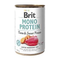 Влажный корм для собак Brit Mono Protein Tuna & Sweet Potato (тунец и батата)
