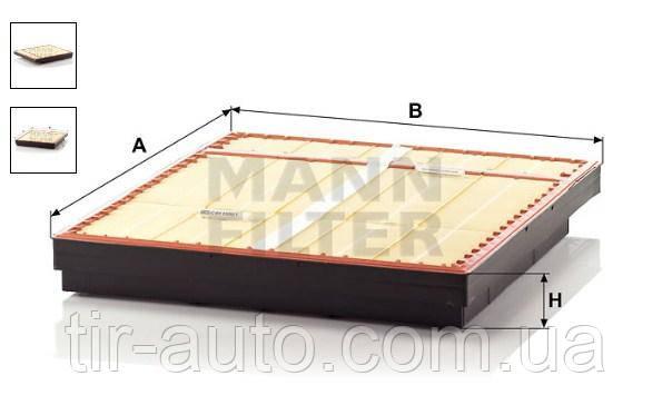 Фильтр воздушный Mercedes Actros ( MANN ) C 641500/1 = C 641500