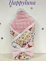 """Конверт-одеяло для новорожденных """"Бабочки"""""""