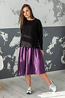 Платье + свитшот / бенгалин, тиар / Украина 44-0170-0169, фото 1