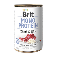 Влажный корм для собак Brit Mono Protein Lamb & Rice (ягнёнок и рис)