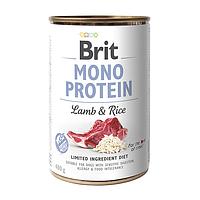 Влажный корм для собак Brit Mono Protein Lamb & Rice
