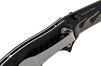 Нож складной рукоять из стальных пластин с алюминиевыми накладками, функциональный нож на каждый день, фото 1