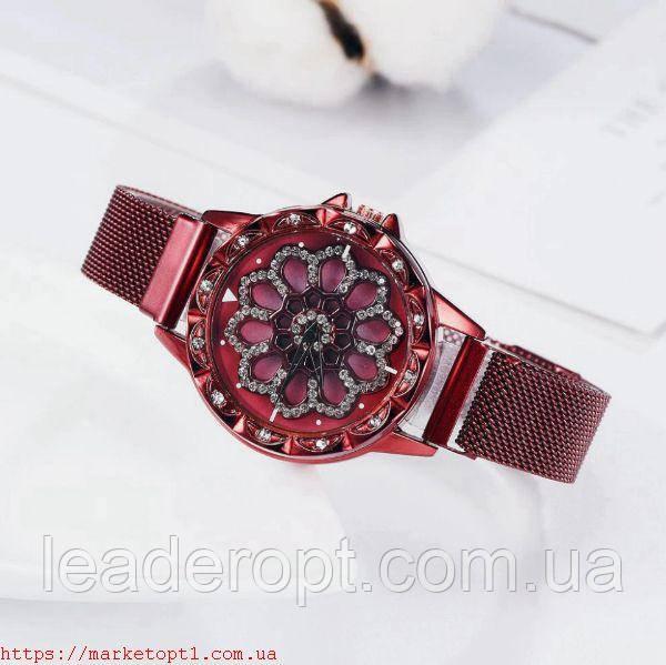 Жіночі годинники красиві ошатні з каменях Rotta Sky Watch з обертовим циферблатом ОПТ