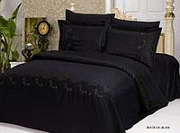 Комплект постільної білизни Le Vele Beatrice Black жакардовий 220-200 см