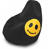 Кресло груша Оксфорд Смайл черная. ТК178
