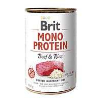 Влажный корм для собак Brit Mono Protein Beef  & Rice (говядинаи рис)