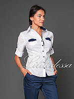 Рубашка с карманами белый, фото 1