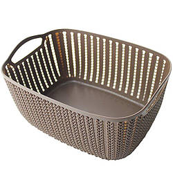 Корзинка для полотенец плетение 2 л Bathlux Stone 70273 R132657