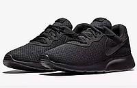 Nike TANJUN Оригинальные кроссовки черные антрацит большие размеры 812654-001, фото 1