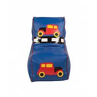 Кресло мешок детский Машинка синий. ТК239