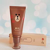 ВВ крем MISSHA M Perfect Cover BB Cream [Line Friends Edition]  #21 Light Beige 50 мл