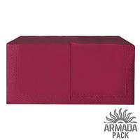 """Салфетки бумажные столовые """"Alsupak"""" 33х33, бордовые, 200 шт"""