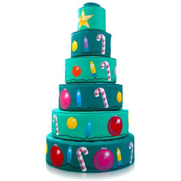 Мягкая пирамида Новогодняя елка. ТК307