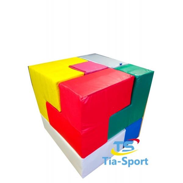 Мягкий конструктор Кубик Рубика, 7 эл.. ТК308