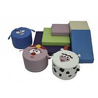 Игровой набор с горкой и пуфами Смешарики. ТК356