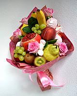 Букет из фруктов, зефира, цветов. Заказ Харьков.