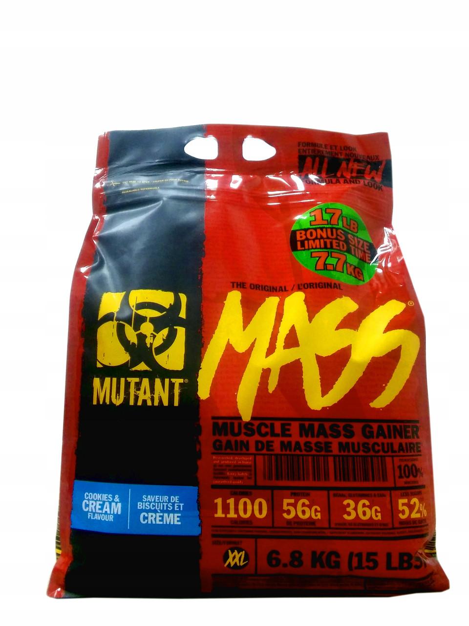 Гейнер PVL Mutant Mass 6800g (Strawberry - Banana)