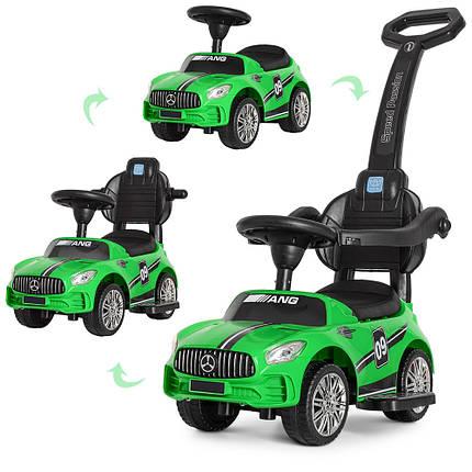 Толокар Bambi (M 4074L-5) Зеленый, MP3, Mercedes AMG, фото 2