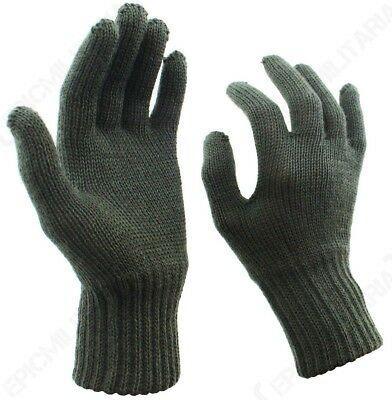Зимние перчатки вязаные 100%шерсть в расцветке олива армия Австрии