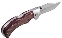 Нож складной коричневого цвета, стойкий к ржавчине, с металлической и деревянной рукоятки, фото 1