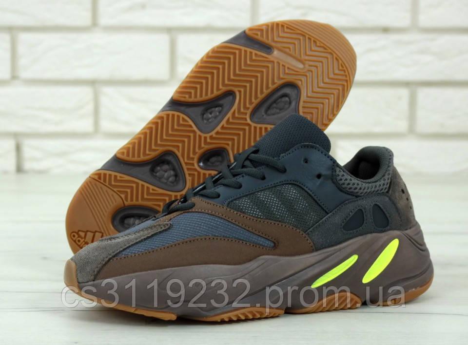 Мужские кроссовки Adidas Yezzy Boost Wave Runner  700 (коричневные)