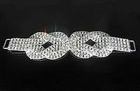 Свадебная апликационная брошь для пояса с камнями свадебная XB-49 №5,7