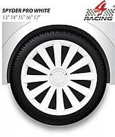 Колпаки Argo R14 SPYDER PRO WHITE (бел. хром. кольцо)