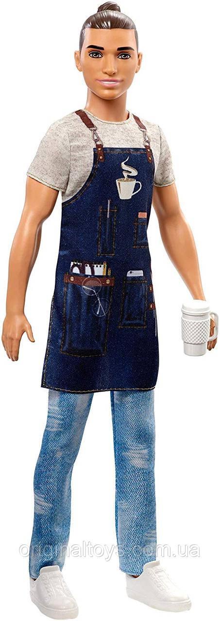 Кукла Барби Кен Бариста Я могу быть Barbie Barista FXP03