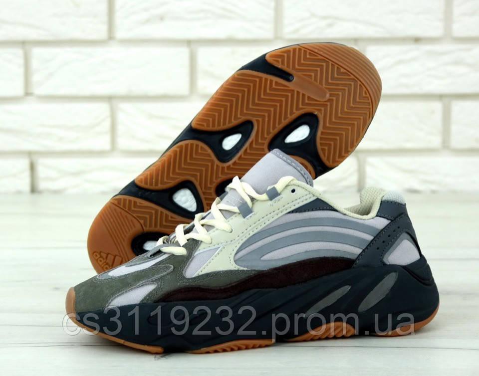 Мужские кроссовки Adidas Yeezy Boost Wave Runner 700 (серые)