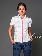 Рубашка с вышивкой белый