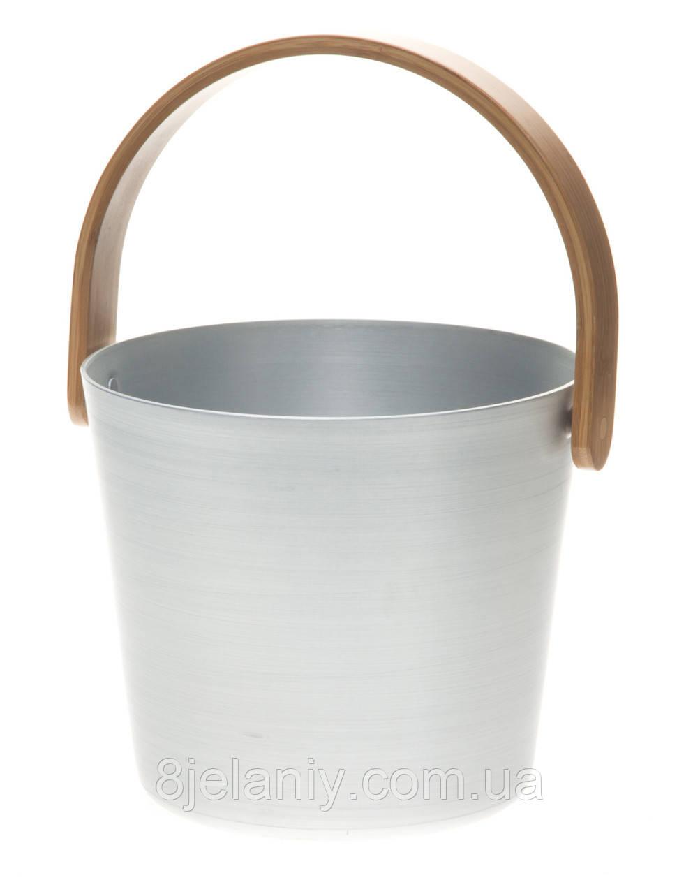 Ведро для сауны 5 л Rento алюминий серый 261307