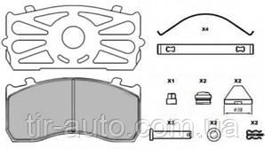 Колодки тормозные Мерседес Атего с пластинами WVA 29115/29148 ( GRANTEX ) 102-00623-10-003
