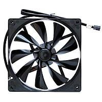Вентилятор 120*120*25мм Thermaltake TT-1225 SB 3pin чёрный новый