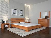 Кровать деревянная Премьер ТМ Арбор Древ 1400х2000, ольха, бук