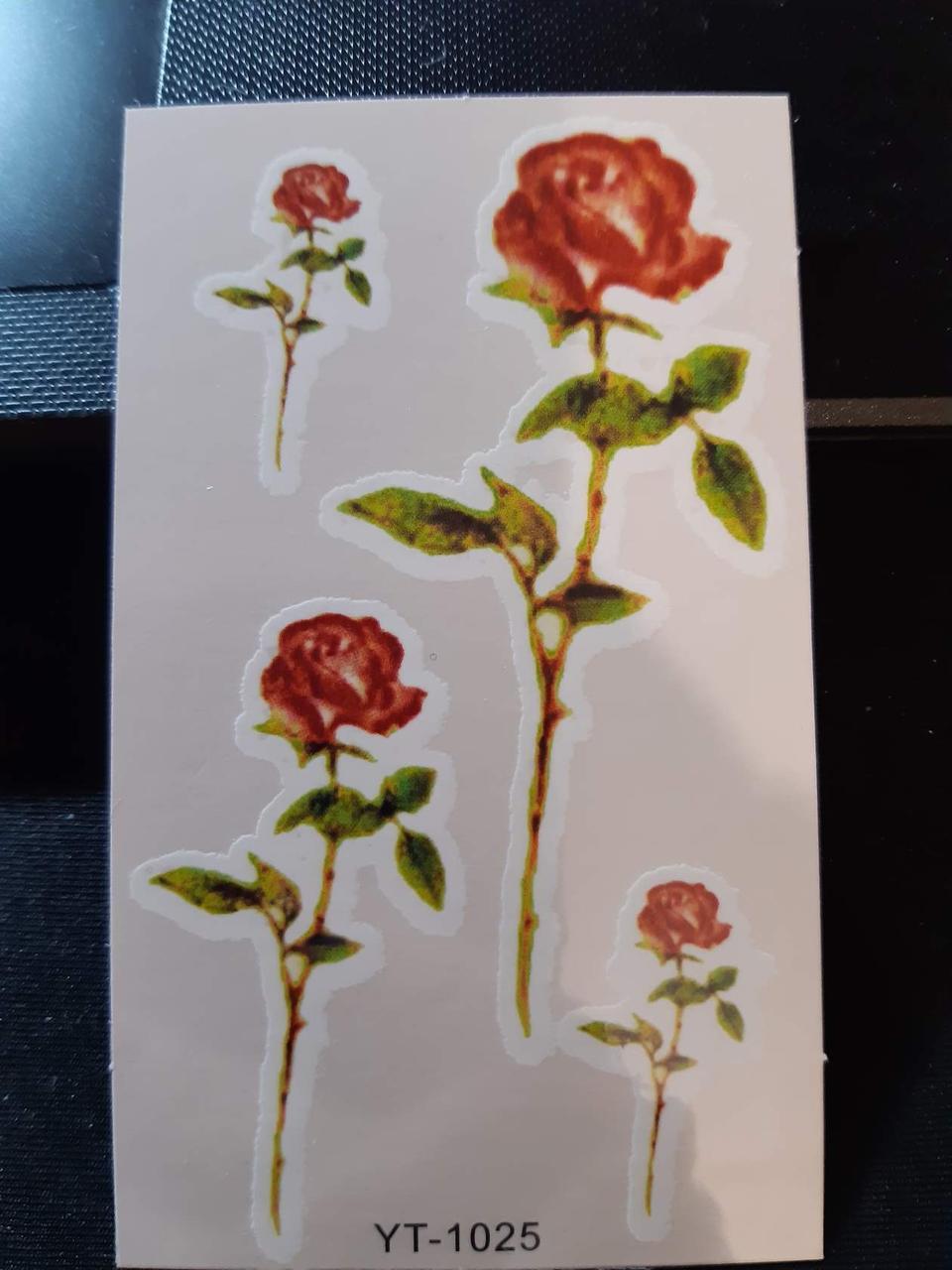 "Татуровка ""Розы"" - 9,5*6см"