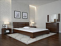Кровать деревянная Премьер ТМ Арбор Древ 1600х2000, орех темный, бук