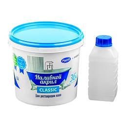 Наливной жидкий акрил для ванн Пластол Классика, ТМ Просто и Легко, 1,5м - R150531