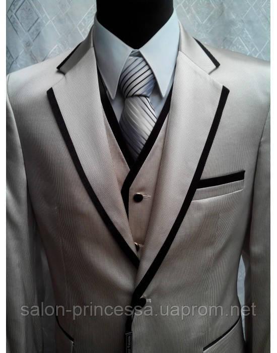 Мужской свадебный костюм-тройка М-А 1001 (размер 52) - Свадебный салон