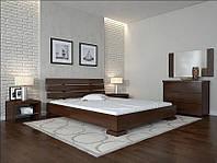 Кровать деревянная Премьер ТМ Арбор Древ 1800х2000, орех темный, бук