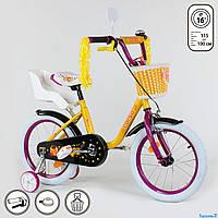Детский велосипед 16 дюймов корзинка кресло для куклы Корсо собран на 75%, фото 1