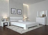 Кровать деревянная Премьер ТМ Арбор Древ 1800х2000, белый, бук
