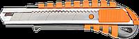 Нож 63-011 Neo с сегментным лезвием 18 мм, алюминиевый прорезиненный корпус
