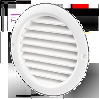 Решетка вентиляционная Домовент ДВ 150 бВ, круглая пластиковая решетка с антимоскитной сеткой Domovent Украина
