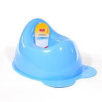 Горшок голубой для мальчика пластмассовый НУК NUK