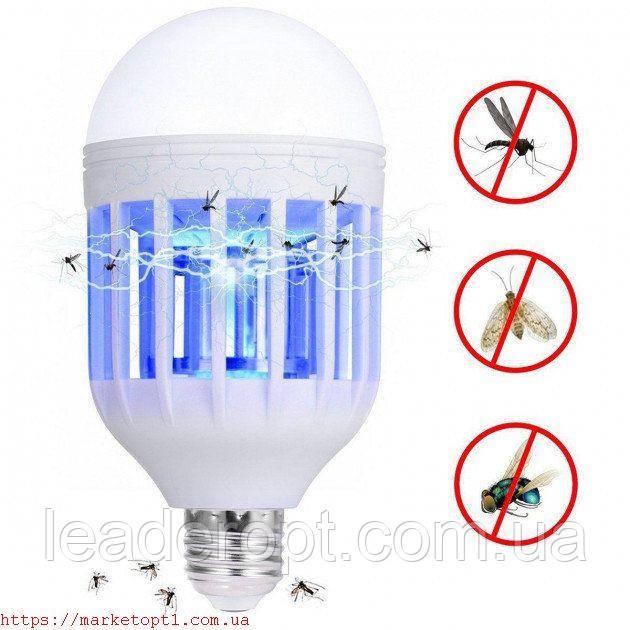 Светодиодная антимоскитная лампа от комаров ультрафиолетовая мощная Zapp Light Led Lamp ОПТ